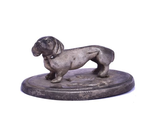 Dog Stand on Plate Antique Finish