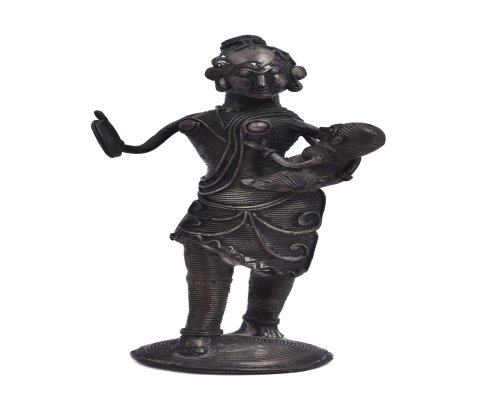 Lady Standing With Child Antique Finish