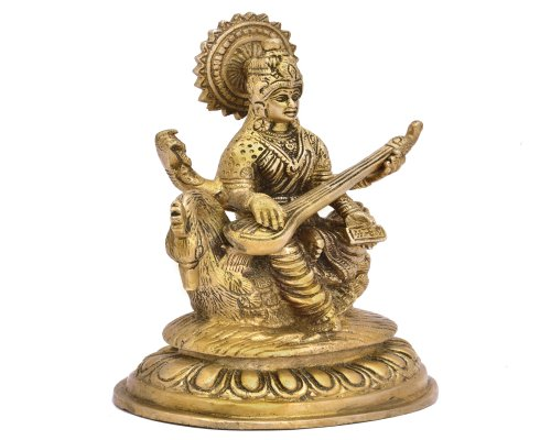 Saraswati Sitting On Hans