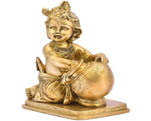 Baby Krishna With Butter Statue