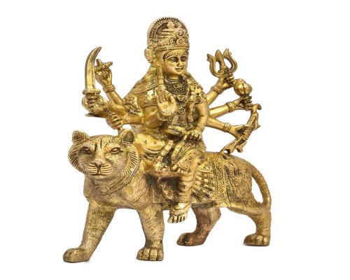 Durga Sitting On Lion