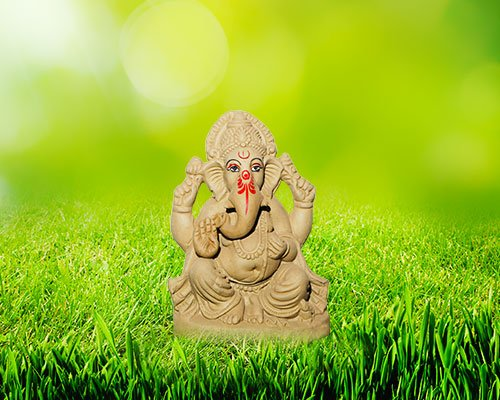 "8 inch - Gaurisutra ""Eco-friendly"" Ganesha 