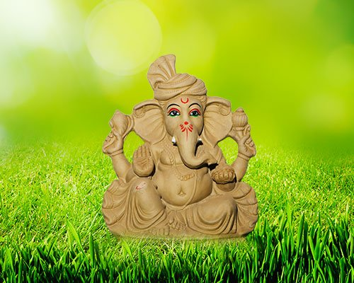"12 inch - Mahodhar ""Eco-friendly"" Ganesha 